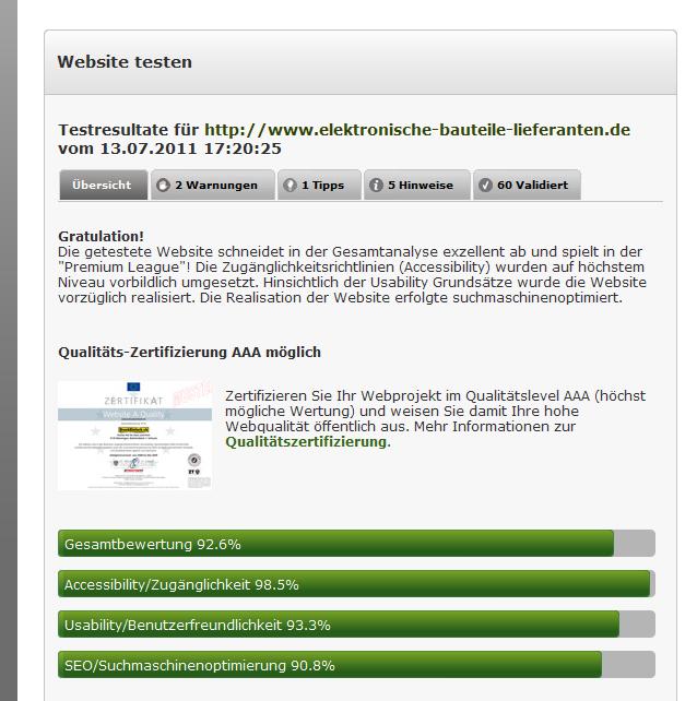 EBL Qualidator-Test